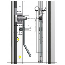 W.060.4.90К_Ручка внешняя ОД W.060-S150. Комплект AL125.