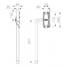 Ручка внешняя ОД A72-L551-S92-151 Арт. 13SEF048 MTH