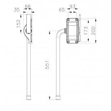 Ручка внешняя ОД A93-L551-S121-151 Арт. 13SEF031 13056 MTH