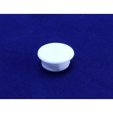 Заглушка мебельная D14 пластик белая